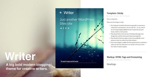 Writer: Bold WordPress Bloggin Theme