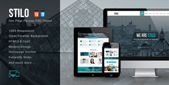 Stilo - One Page HTML5 Template - Creative Site Templates