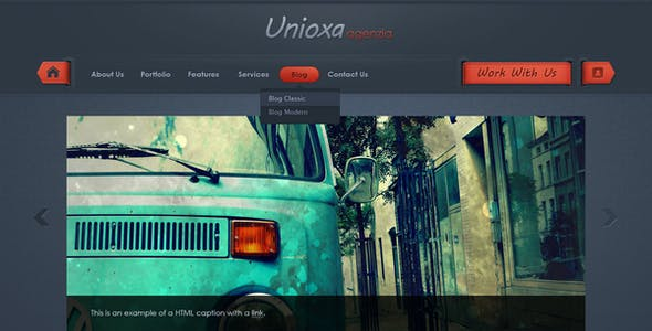 Unioxa PSD Theme: Portfolio/Agency/Business