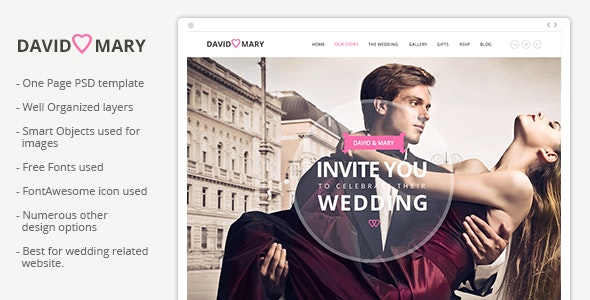 David & Mary - Event & Wedding Template - Events Entertainment
