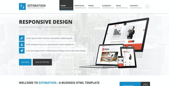 Estimation - Responsive Business HTML Template