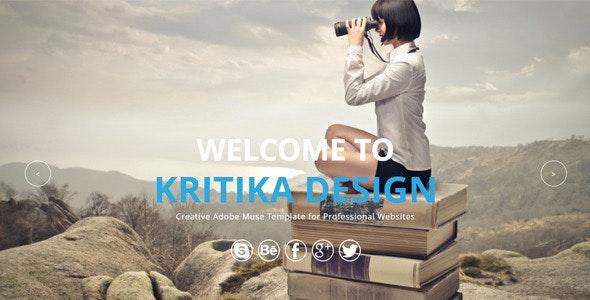 Kritika - Multipurpose Muse Template - Corporate Muse Templates