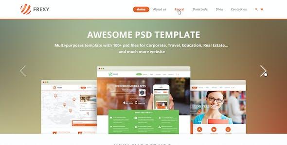 Frexy | Multi-purposes PSD template