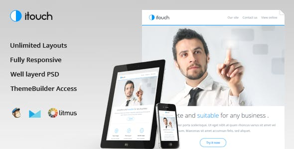 Itouch - Responsive Email with Layout Builder