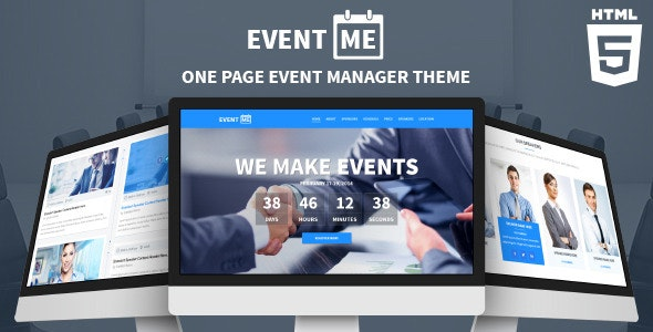 EventMe - Responsive Conference Landing Page - Events Entertainment