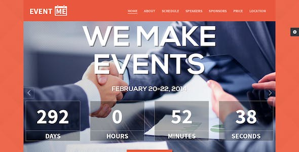 EventMe - Responsive Conference Landing Page