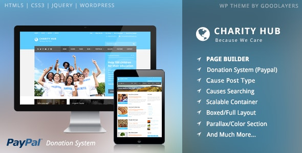Charity Hub - Nonprofit / Fundraising WordPress - Charity Nonprofit