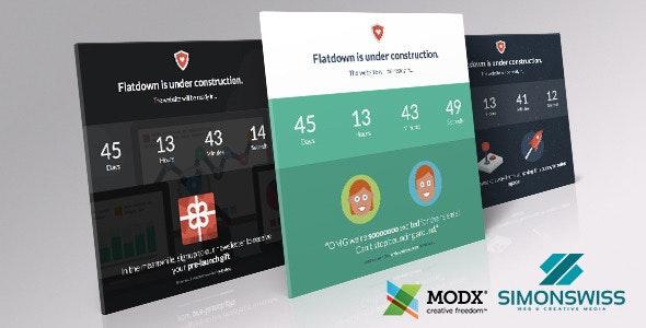 Flatdown - Coming Soon MODX Theme - MODX Themes CMS Themes