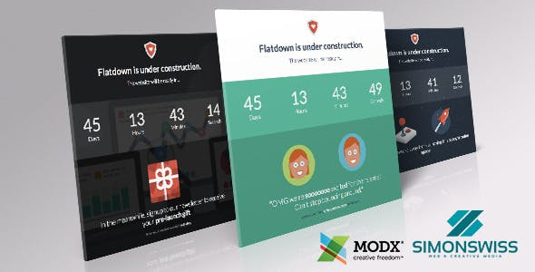 Download Flatdown - Coming Soon MODX Theme