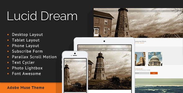 Lucid Dream - One Page Parallax Muse Template