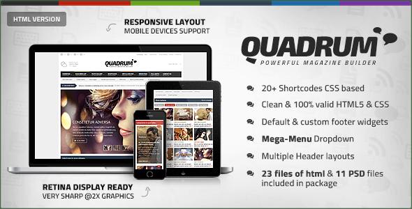 Quadrum - Multipurpose News&Magazine HTML Template