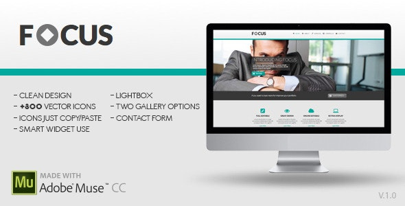 Focus | Adobe Muse Template - Corporate Muse Templates