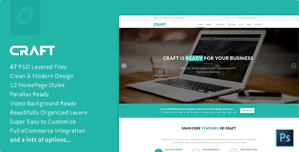Craft | Multi-Purpose PSD Template - Business Corporate