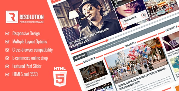 Resolution Responsive HTML5 template - Site Templates