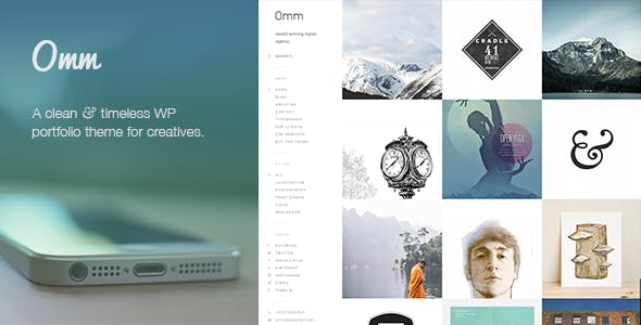 Omm: a carefully handcrafted, clean, minimal & responsive WP portfolio theme with a sidebar menu