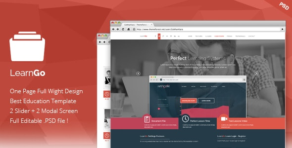 LearnGo - Education Learning Landing Page - Marketing Corporate