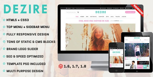 Dezire - Premium Responsive Magento Theme - Fashion Magento