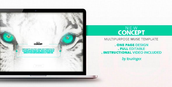 New Concept Multipurpose One Page Muse Theme