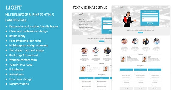 Light - Multipurpose Business Landing Page - Corporate Landing Pages