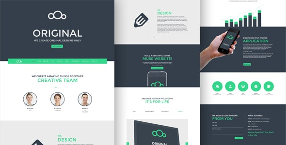 Original– One Page Multi-Purpose Muse Template - Muse Templates