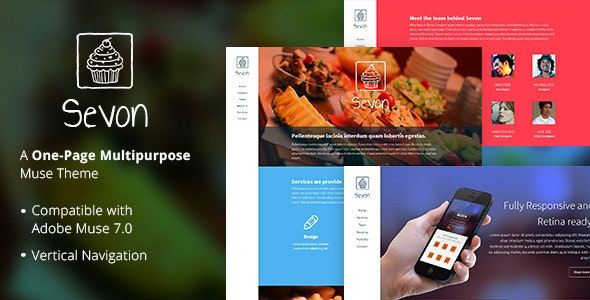 Sevon - One Page Muse Theme - Creative Muse Templates