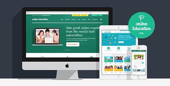 Online Education | PSD Template - Nonprofit Photoshop