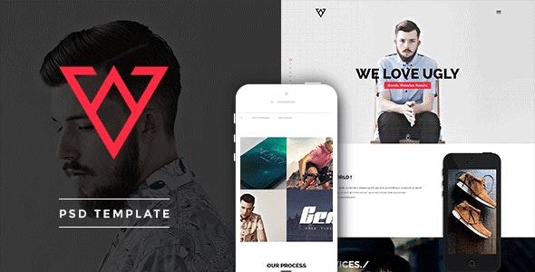 Viska - Creative One Page PSD Template - Creative Photoshop