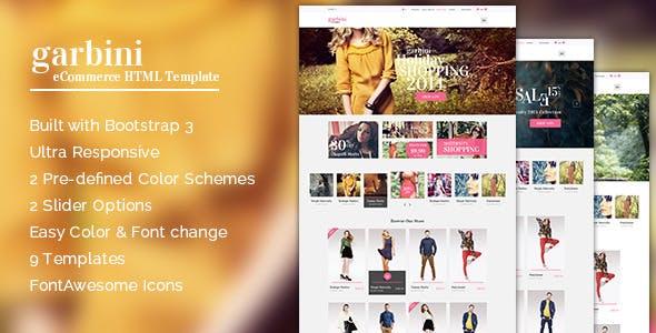 Garbini - Multipurpose HTML5 eCommerce Template