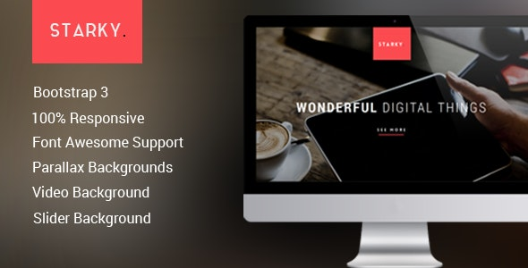 Starky - Responsive One Page  Parallax - Creative Site Templates