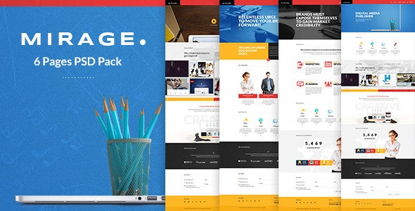 Mirage - Multipages PSD Template - Creative Photoshop