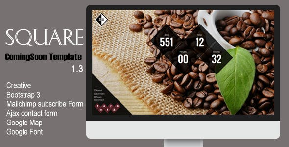 Square Creative Coming Soon Template