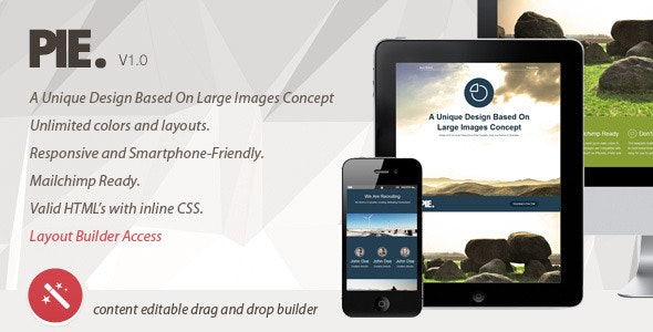 Pie. Unique Concept Email Template, Layout Builder - Newsletters Email Templates