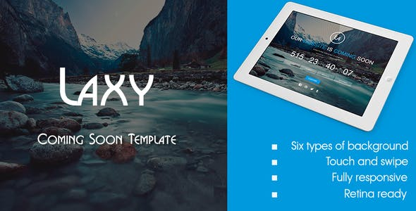 Laxy - Responsive Coming Soon Template