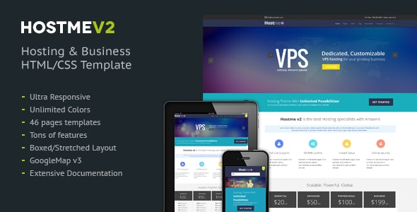 Hostmev2 - Responsive HTML5 Template - Hosting Technology
