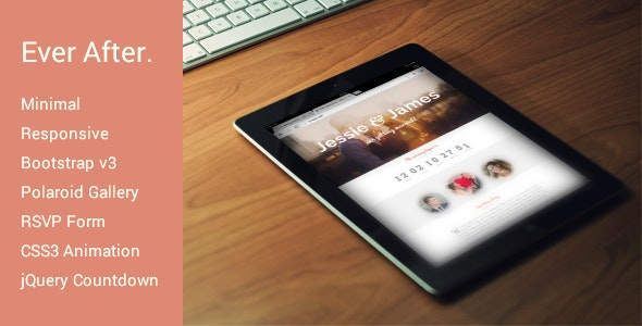 Ever After - Responsive Wedding Invite Template - Wedding Site Templates