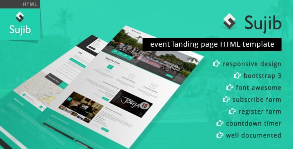 Sujib | Event Landing Page HTML Template