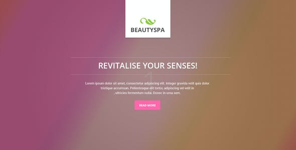 Spa Landing Page Template
