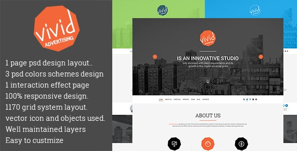 VIVID Creative PSD Template - Creative Photoshop
