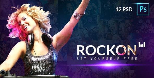 RockOn PSD Template - Events Entertainment