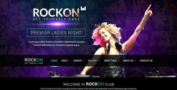 RockOn PSD Template