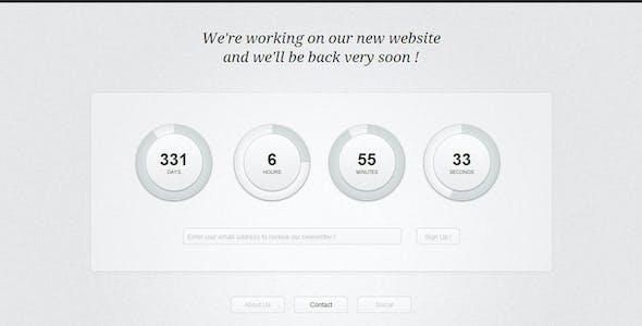 Circular Countdown - Modern Coming Soon Layout
