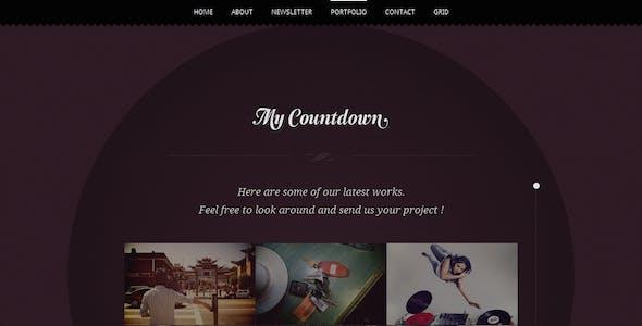 MyCountdown - Scrolling Coming Soon Template
