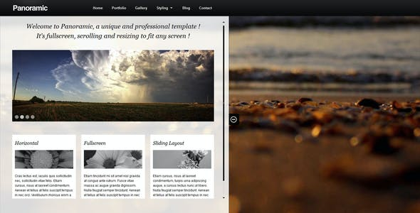 Simple HTML Photography Website Templates from ThemeForest