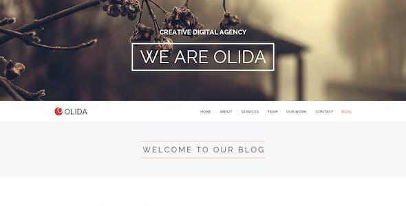 Olida   Multi-Purpose Parallax PSD Landing Page