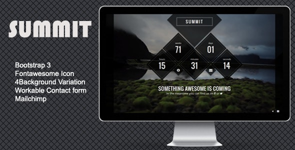 Summit - Creative Comingsoon Template - Under Construction Specialty Pages