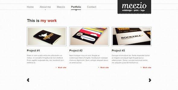 Meezio, Horizontal & Vertical Scrolling Template