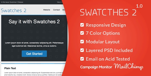 Swatches 2 - Responsive Email Template - Email Templates Marketing