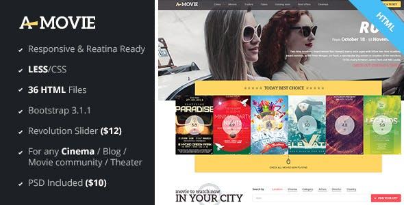 A.Movie - Cinema/Movie HTML LESS Template