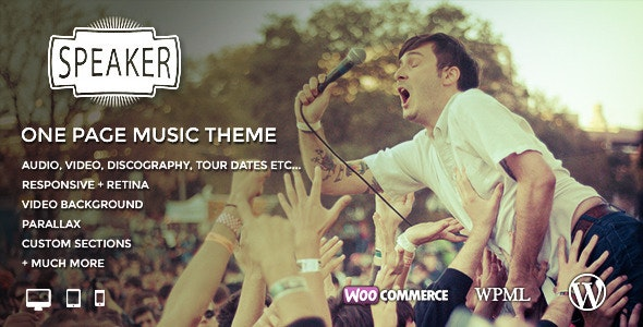 Speaker - One Page Music Wordpress Theme - Music and Bands Entertainment