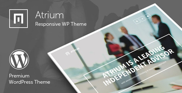 Atrium - Finance Consulting Advisor WordPress Theme - Business Corporate